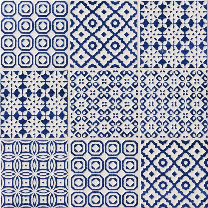 Seinälaatta Batik Sininen 10 x 10 cm