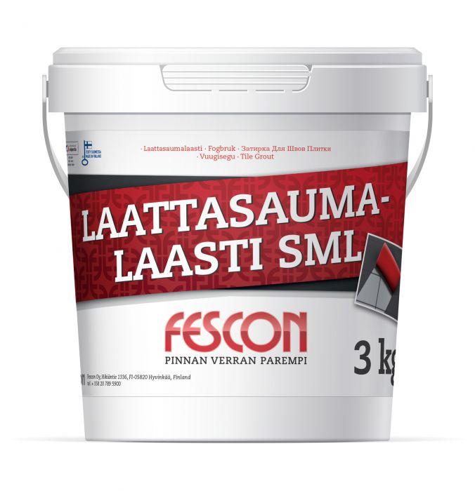 Saumalaasti Fescon SML Mustanharmaa 3 kg