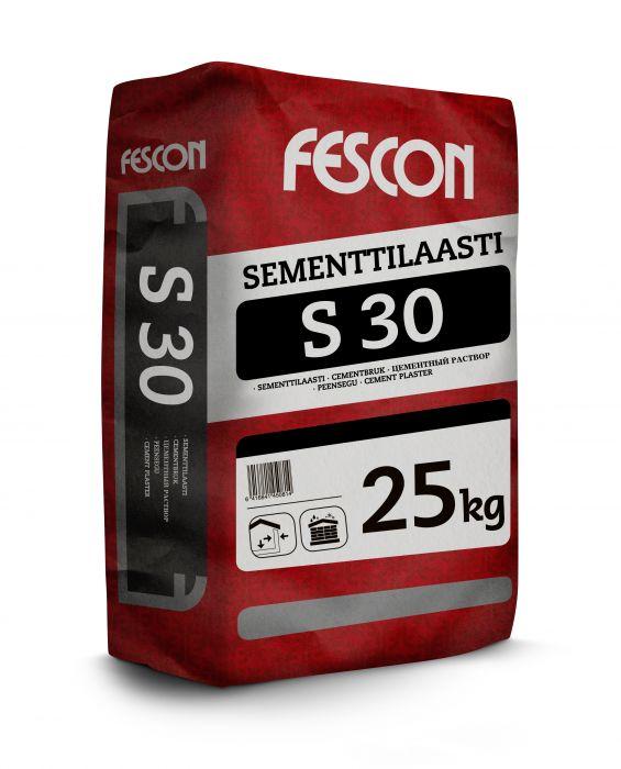 Sementtilaasti Fescon S 30 25 kg