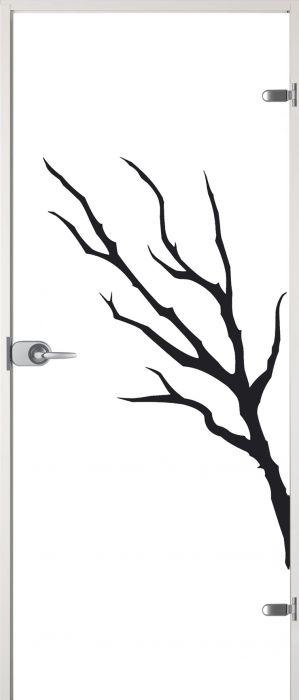 Lasiovi Jeld-Wen Oksa plus 9 x 21 wc-lukko oikea valkoiset karmit