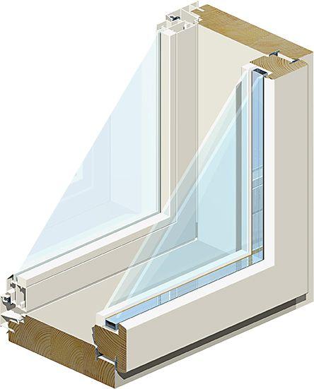 Ikkuna MSEA 131 3 x 12 Valkoinen