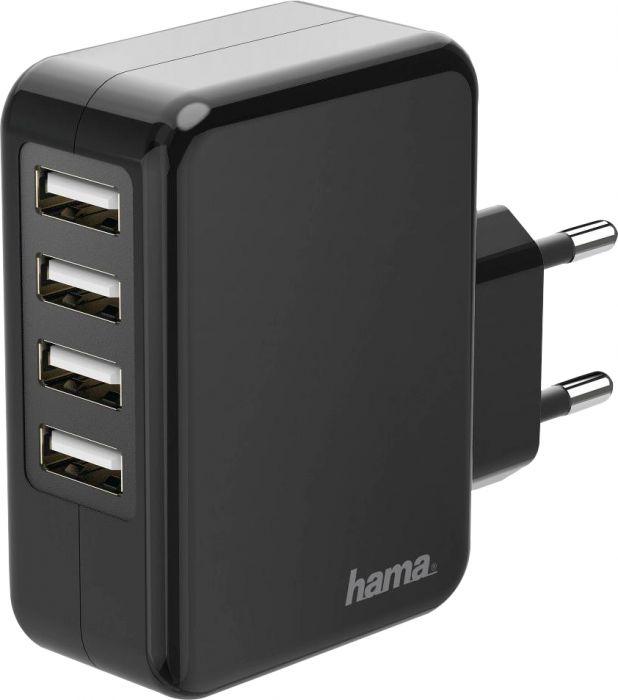 Verkkovirtalaturi Hama  4 x USB