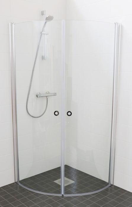 Suihkukulma Eago Puolipyöreä Kirkas Lasi 85 x 85 cm