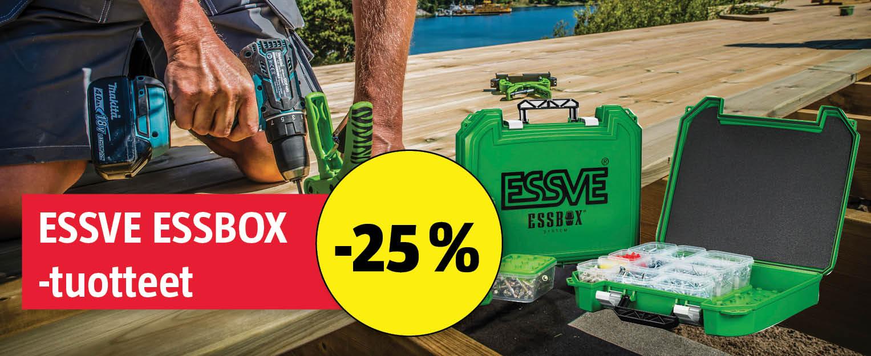 Essve essbox-tuotteet -25%